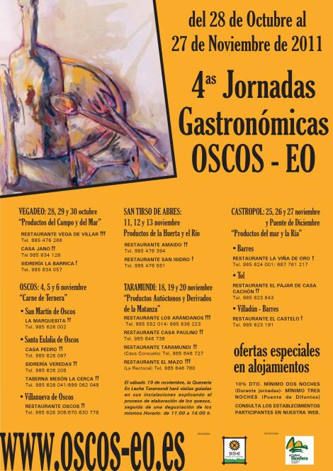 Cartel Jornadas Gastronómicas 2011