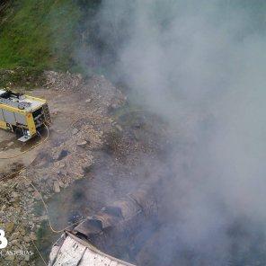 Incendio industrial en Abres 2