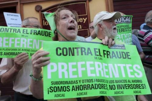 Miles de ciudadanos contra el fraudulento banco Caja España-Duero.