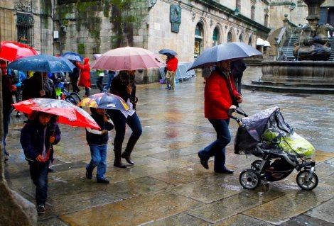 31/10/10.Fotos de lluvia en Santiago.