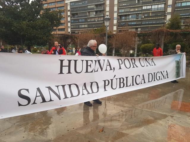 Manifestantes llegados desde la provincia de Huelva . / Jesús Arincón - Digital Sevilla