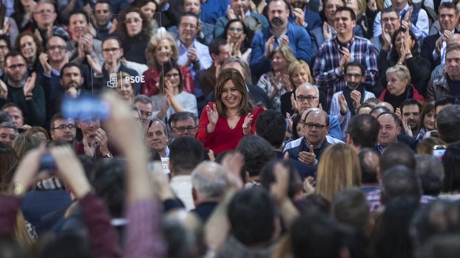 La secretaria general del PSOE andaluz y presidenta de la Junta de Andalucía, Susana Díaz.