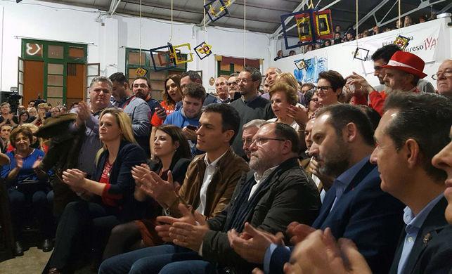 El exsecretario general del PSOE, Pedro Sánchez, en Castellón