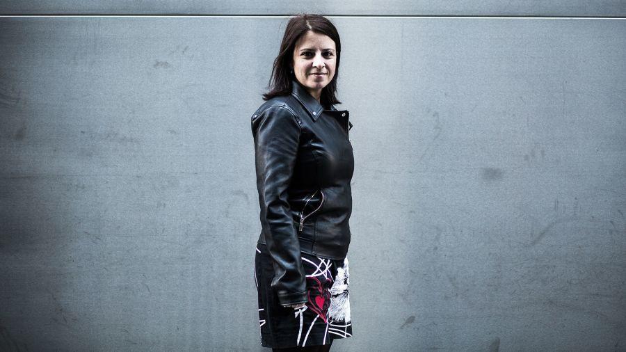 Adriana Lastra, cerca del Congreso de los Diputados, esta semana.