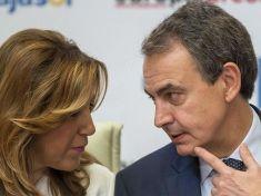 Susana Díaz junto a José Luis Rodríguez zapatero.