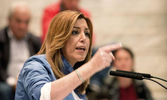 La candidata a la Secretaría General del PSOE y presidenta de la Junta de Andalucía, Susana Díaz. (EFE)
