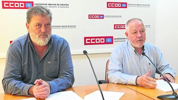 Gilberto García Buelga y Antonio Pino, durante la rueda de prensa.