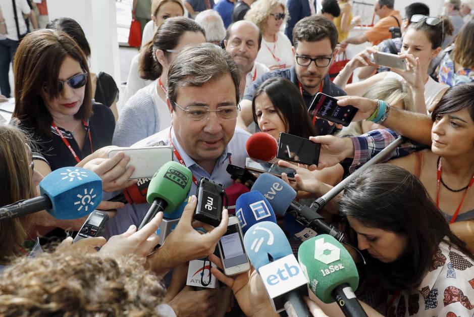 El presidente extremeño, Guillermo Fernández Vara, el pasado 17 de junio, en la apertura del 39º Congreso Federal, en Madrid. (EFE)