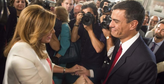 Susana Díaz y Pedro Sánchez. EFE/Archivo