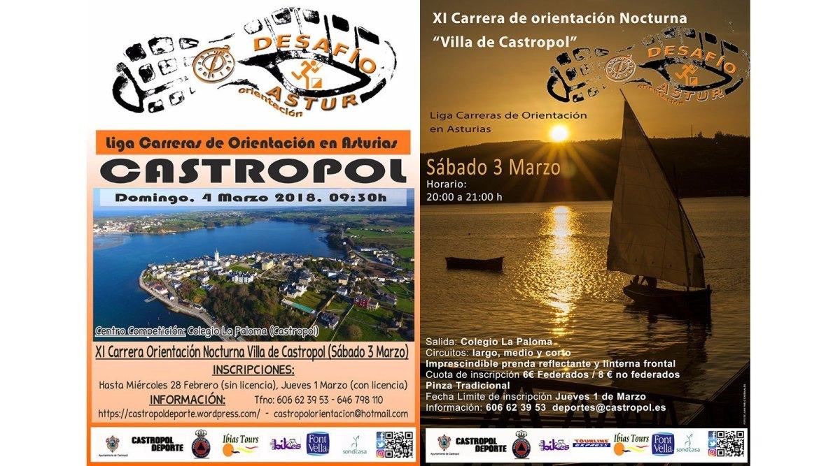 """XII Carrera de Orientación Nocturna """"Villa de Castropol"""" y Desafío Astur 2019 Castropol"""