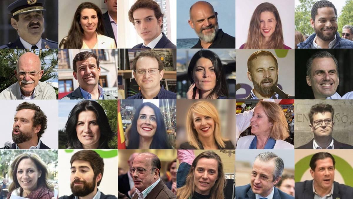¿Quiénes son los 24 diputados de Vox? Militares retirados, diputados del PP desencantados, un profesor de árabe y una abogada del Estado son algunos de los nuevos parlamentarios de la formación verde de derechas