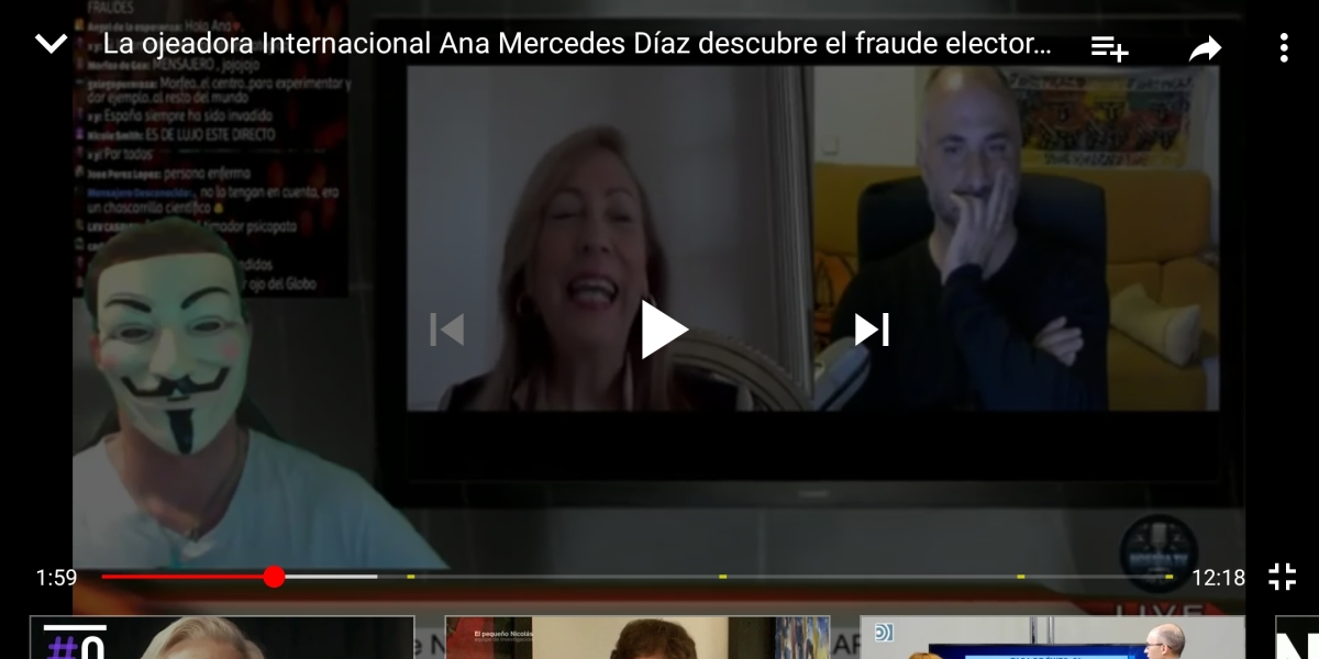 "Ver ""La ojeadora Internacional Ana Mercedes Díaz descubre el fraude electoral en España"" en YouTube"